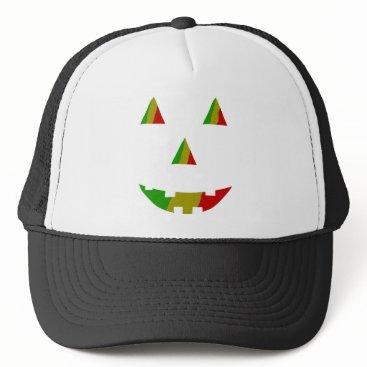 Halloween Themed Rasta Jack-O-Lantern Trucker Hat