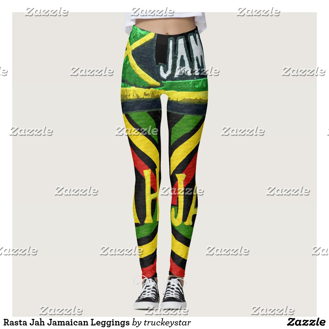 Rasta Jah Jamaican Leggings
