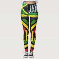 Rasta Jah Jamaican Leggings