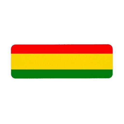 Rasta Label Return Address Label