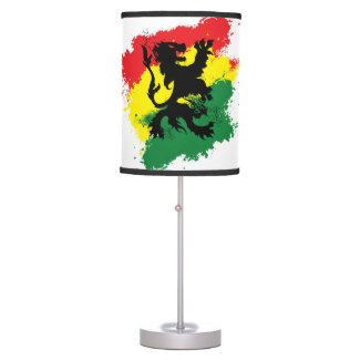 Rasta Lamp: Lion of Judah Red Yellow, Green Lamp