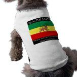 Rasta - león de la bandera de Etiopía de la música Camisa De Perrito