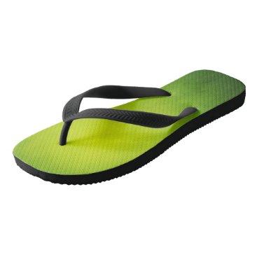 Beach Themed Rasta Lime Green Flip Flops! Flip Flops