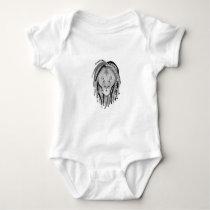 Rasta Lion Baby Bodysuit