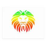 Rasta Lion Head Postcard