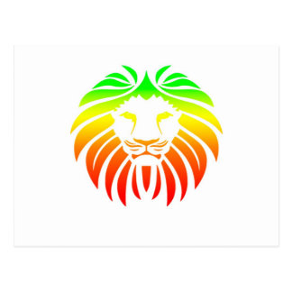 Rasta Lion Head Postcard