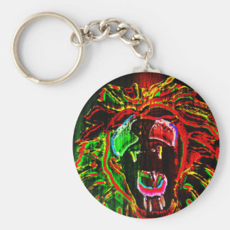 Rasta Lion Key Chain