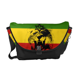 Rasta Lion of  Haile Selassie Messenger Bag