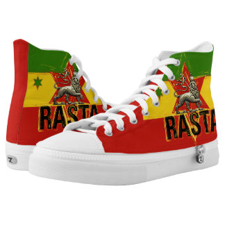 Rasta Lion of Judah Hi Tops Shoes
