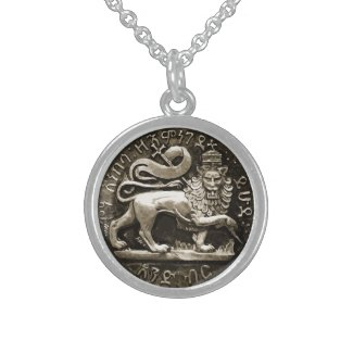 Rasta Lion of Judah Sterling Silver Pendant