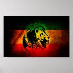 Rasta Lion Print
