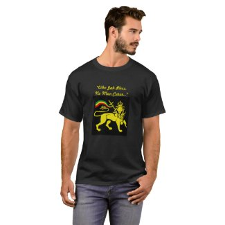 "Rasta Lion: ""Who Jah Bless No Man Curse."" T-Shirt"