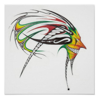 Rasta man tribal Canvas Poster