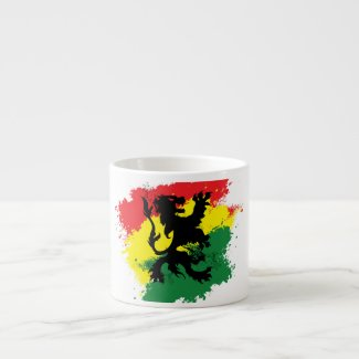Rasta Mug: White Lion of Judah Mug (love)