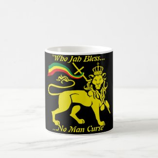 Rasta Mug: Who Jah Bless No Man Curse (Black) Coffee Mug