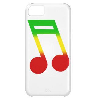 Rasta Music Note Case For iPhone 5C