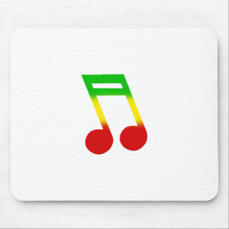 Rasta Music Note Mouse Pad