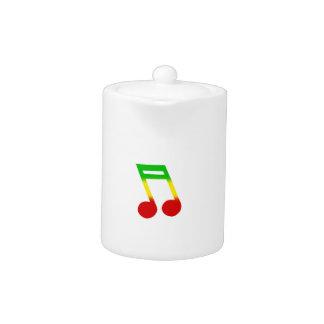 Rasta Music Note Teapot