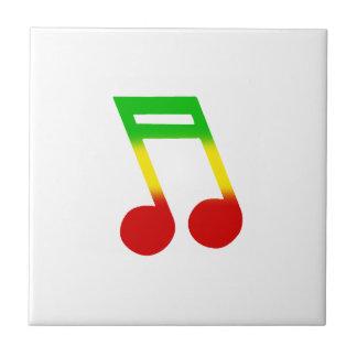 Rasta Music Note Tiles