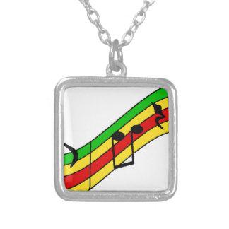 Rasta Music Staff Custom Necklace