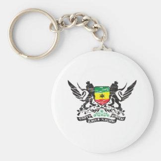 Rasta Nation Basic Round Button Keychain