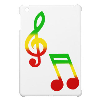 Rasta Note and Treble Clef Cover For The iPad Mini