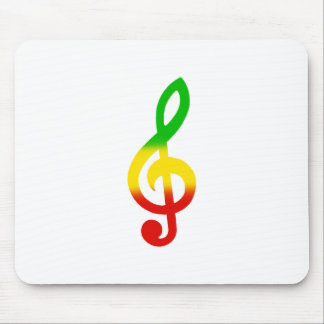 Rasta Note and Treble Clef Mouse Pad