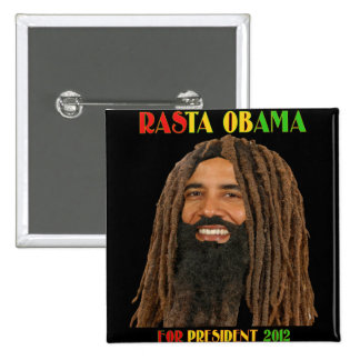 Rasta Obama for President 2012 Pinback Button
