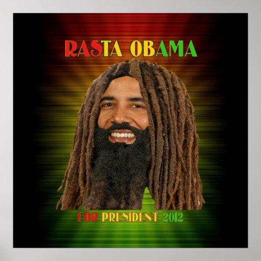 Rasta Obama for President 2012 Poster Yah Man!