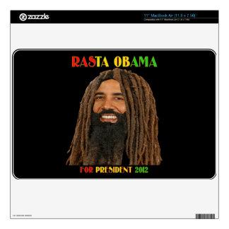 Rasta Obama para el aire 2012 de presidente Zazzle Skin Para El MacBook