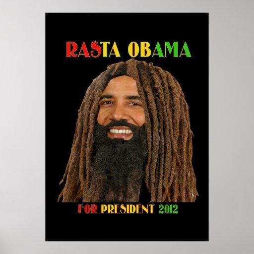 ¡Rasta Obama para el hombre 2012 de Yah del presid Poster