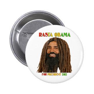 Rasta Obama para el presidente 2012 Pin
