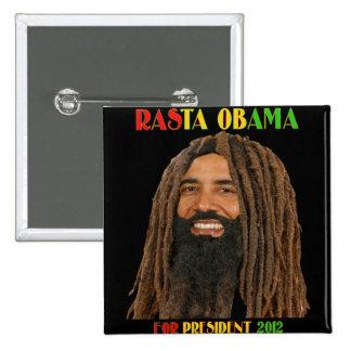 Rasta Obama para el presidente 2012 Pins