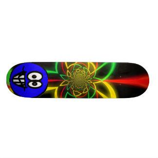 Rasta Oddball colors Custom Skateboard