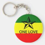 Rasta One Love Keyring Keychain