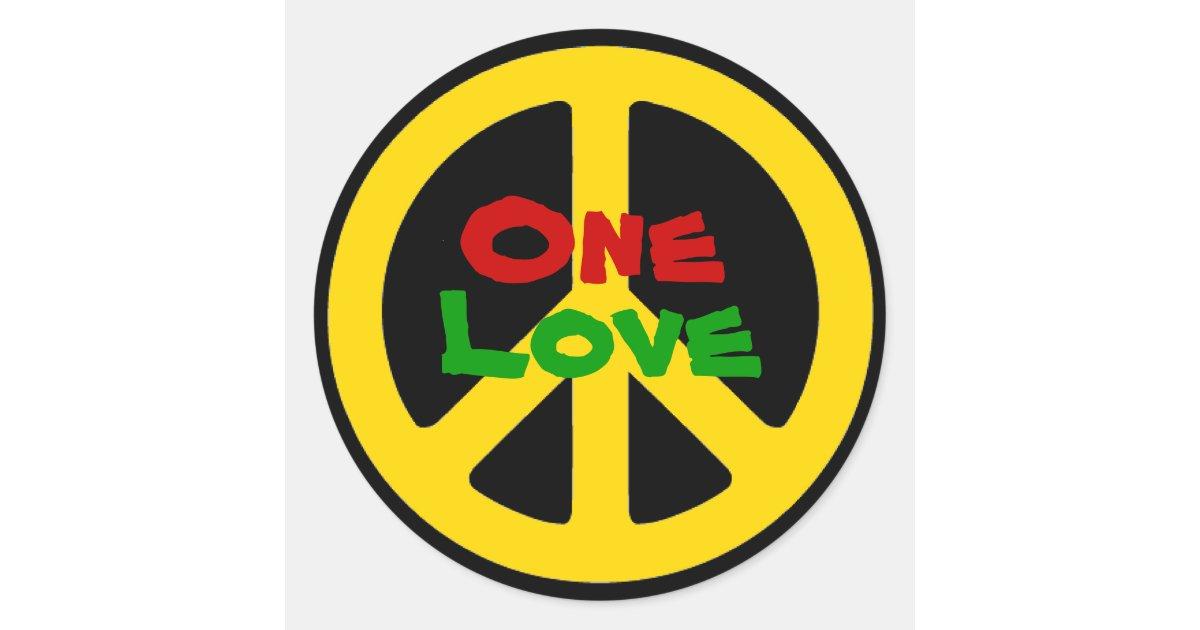 Rasta One Love Sticker Zazzle