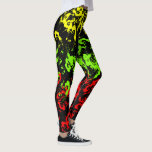 "Rasta Paint Splatter Women&#39;s Leggings<br><div class=""desc"">Style AND comfort can both be king in one perfect pair of custom leggings. Custom made with care, each pair of leggings is printed before being sewn, allowing for fun designs on every square inch. Medium weight fabric is sturdy, yet breathable, stretches to fit your body, hugs in all the...</div>"