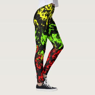 Rasta Paint Splatter Women's Leggings
