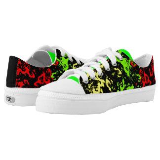 Rasta Paint Splatter Zip Shoes