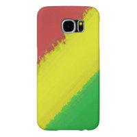 Rasta Paint Swipe Samsung Galaxy S6 Case