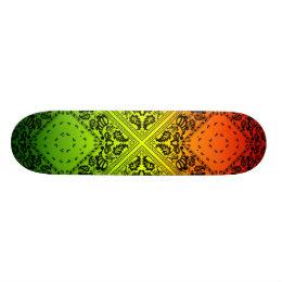 Rasta Paisley Skateboard