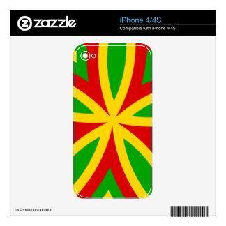 Rasta Pattern iPhone 4 Skins