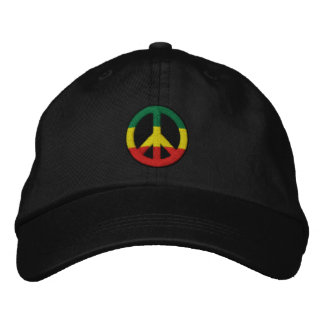Rasta Peace Embroidered Hat