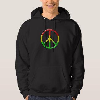 Rasta Peace Hooded Pullover
