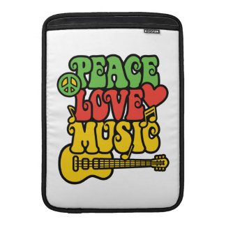 Rasta Peace Love and Music Sleeve For MacBook Air