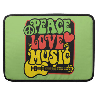 Rasta Peace Love and Music Sleeve For MacBook Pro
