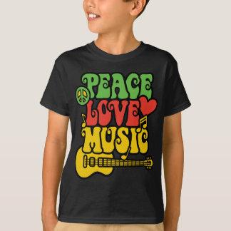 Rasta Peace Love and Music T-Shirt