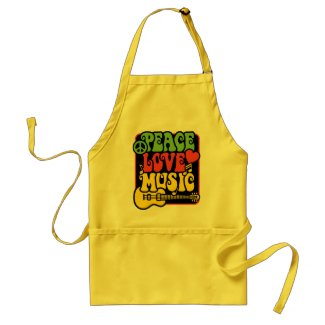 Rasta PEACE-LOVE-MUSIC Adult Apron