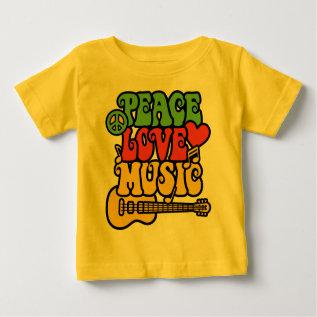 Rasta  Peace-love-music Baby T-shirt at Zazzle