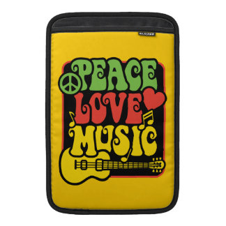Rasta Peace Love Music MacBook Sleeve
